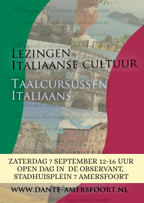 Save the date! Open dag Dante Alighieri Amersfoort 7 september 2019